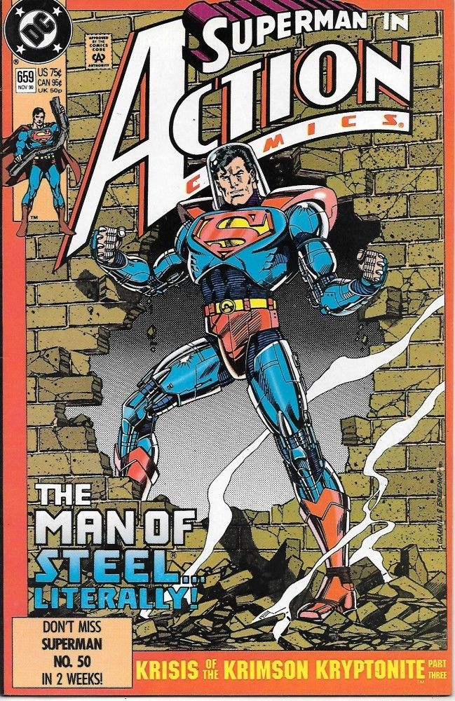 Action Comics Comic Book #659 DC Comics 1990 VERY FINE- UNREAD