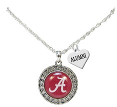 Custom Alabama Crimson Tide Silver Necklace Jewelry Choose Alumni Family... - $16.14