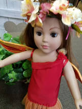 On fire dress,  American girl sized doll clothes, 18 inch doll clothes, ... - $45.00
