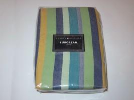 2 Tommy Hilfiger Dharma Stripe Euro shams - $43.60
