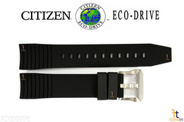 Citizen Eco-Drive 4-T019773 Original Schwarze Gummi-Armbanduhr Band Armband - $85.69