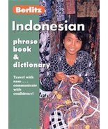 Berlitz 570921 Indonesian Phrase Book And Dictionary - $39.19