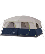 10-Person Camping Tent 14 x 10 ft Family Cabin Rainfly Electrical Cord A... - $168.07