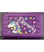Personalized Unicorn Pencil Box – Girls Pencil Case School Box, Pencils ... - $16.00