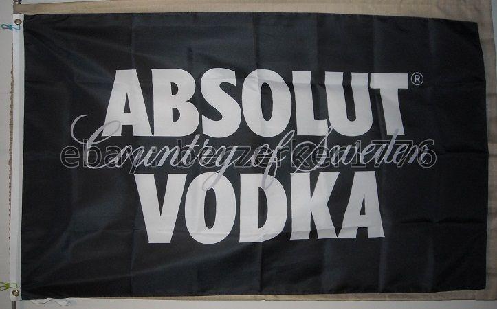 USA seller shipper Absolut Vodka Country of Sweden 3/'x5/' Black Flag Banner