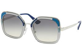 Prada Sunglasses PR57US LMD130 Transparent Grey Frame W/ Grey Gradient Lens - $118.79