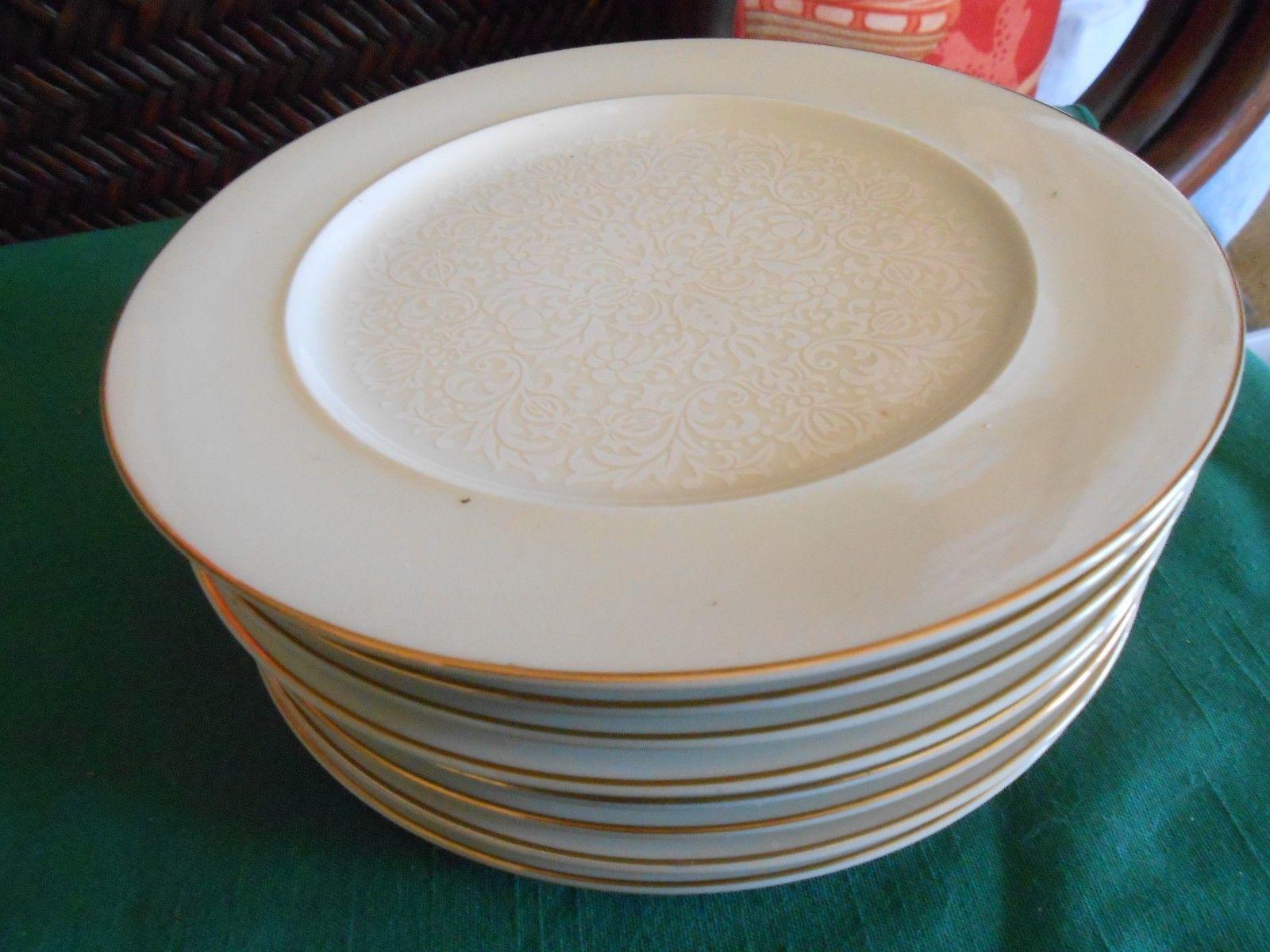 Beautiful Paloma TAIHEI China Ivory-Gold Trim- 7 DINNER Plates & Beautiful Paloma Taihei China Ivory-Gold and 50 similar items
