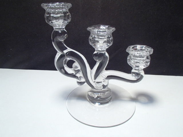 Primary image for Vintage Heisey Cascade Trindle Clear Crystal Candle Holder