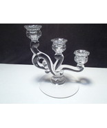 Vintage Heisey Cascade Trindle Clear Crystal Candle Holder - $23.99