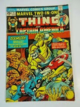 Marvel Two-in-One # 4 July 1974 Thing & Capt America Bronze Age Buscema  - $9.49