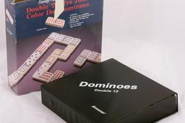 Double Twelve Jumbo Color Dot Dominoes Family Classics by Pressman Vintage 1994 - $11.75