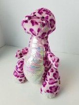 "Ganz Webkinz Spotty Dinosaur 10"" Plush Pink Purple Spotted Stuffed Animal - $13.31"