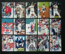2020 Topps Series 2 Atlanta Braves Base Team Set of 15 Baseball Cards  - $3.99