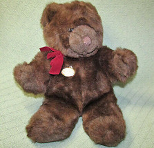 Vintage Gund Teddy Bear Collectors Classic 1983 Brown Stuffed Animal Plastic Tag - $28.71