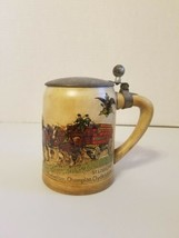 1980 Budweiser Beer Stein Lidded Mug Champion Clydesdales St Louis MO - $79.19