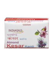 PATANJALI KANTI ALMOND KESAR BODY CLEANSER SOAP BAR- 75gm  - $9.99+