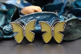 Navia Jewelry Butterfly Wings Catopsilia pomona pomona Cufflink HNCU-1L - $49.99