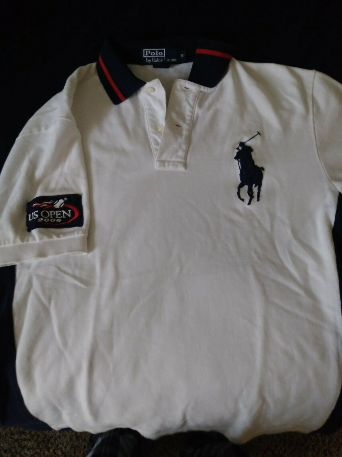 US Polo ASSN Big Pony Short Sleeves Striped-Collar Classic Mesh Shirt M L XL XXL