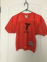 Champion The Y Football Jersey #10 Sz Youth S/M Orange  - $45.90