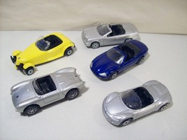 NWOB LOT OF 5 MAISTO ROAD TRACK CONVERTIBLE DIE CAST CARS SPYDER JAGUAR ... - $11.12