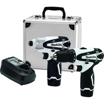 Battery Powered Drill Impact Driver With Case Makita Powerfull Lightweig... - $266.73