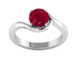 Designer Indian Ruby Gemstone 925 Sterling Silver Ring US Size 7 SHRI1103 - $21.05