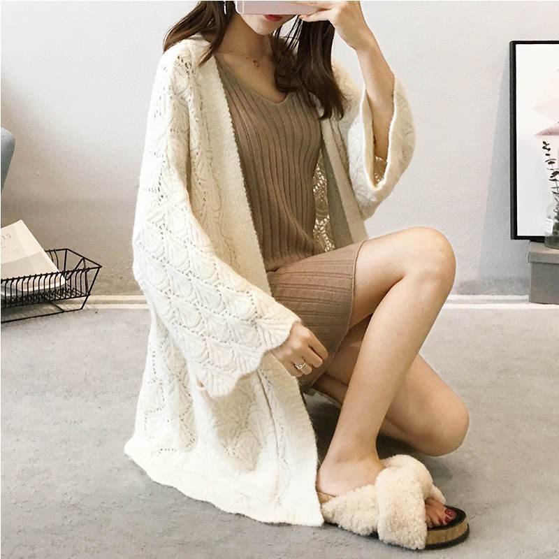 Primary image for Plus Size Knitted Cardigan Sweater Jacket Women Jumper New Pockets Long Cardigan