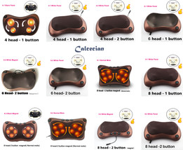 Relaxation Massage Pillow Shoulder Back Heating Kneading Electric Neck M... - £22.35 GBP+