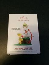 2019 Hallmark Keepsake Peanuts Snoopy Beagle Scouts Archery Practice Orn... - $15.84