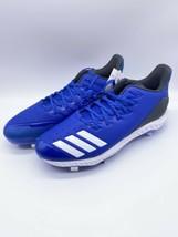 New Adidas Men's Baseball Icon Bounce Metal Cleats Royal Blue US Size 12 CG5243 - $36.57