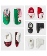 Kid and Toddler Slippers - Santa, Elf, Reindeer, Fuzzy, Plaid Styles - $10.00