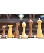 Repro Modern Mid Century Minimalist Hermann Ohme wooden weighted Chess S... - $102.99