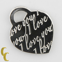 """Tiffany & Co. Sterling Silver """"I love you"""" Heart Pendant Retired Piece Great! - $142.56"""