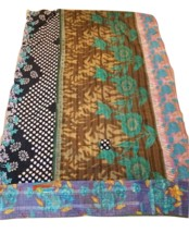 "New HANDMADE One-of-a-Kind Kantha Quilt Throw 60""x90"" Many Uses & Eco-Fr... - $49.99"