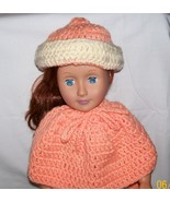 American Girl Peaches and Cream Hat, Handmade Crochet, 18 Inch Doll - $10.00