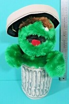 "Applause Sesame Street Muppet Oscar The Grouch Trash Can Lid 13"" Plush V... - $14.95"