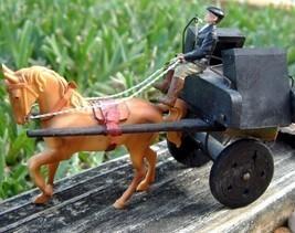 Vintage Ireland Horse Cart Carriage Jaunting Car Driver Toy Souvenir - $26.95