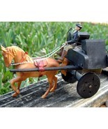 Vintage Ireland Horse Cart Carriage Jaunting Car Driver Toy Souvenir - £19.78 GBP