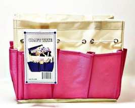 Allary #1610 Canvas Craft Caddy Organizer Project Tote, Pink, 9.5x5x8.5 ... - $8.31