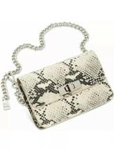 Steve Madden Bobby Snake Print Belt Bag Medium Large Animal Print Chain ... - $38.65