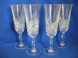 """4 Lead Crystal 7.75"""" Tall Champagne Flutes - $29.95"""