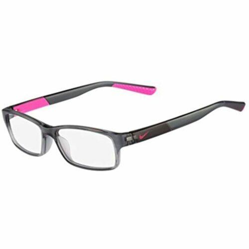 NEW KIDS NIKE 5534 068 Crystal Dark Grey & Hyper Pink Eyeglasses  45mm with Case - $39.55
