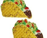 "Taco Applique Patch - Mexican Food Badge 2-1/8"" (2-Pack, Iron on)"
