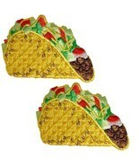 "Taco Applique Patch - Mexican Food Badge 2-1/8"" (2-Pack, Iron on) - $6.00"