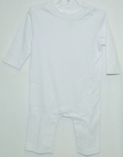 Blanks Boutique Boys Long Sleeved Romper Color White Size 6 Months