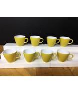 Lot 8 Corning Coordinates Yellow Centura Petaled Flowers TEA CUP / COFFE... - $28.04