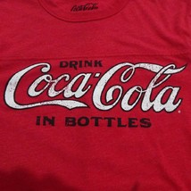 Drink Coca Cola in Bottles Coke Vintage Logo T-Shirt Coca Cola size small  - $14.24
