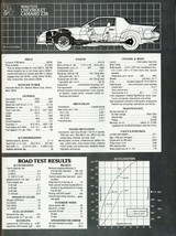 1982 Camaro ZZ28 specifications data | 24 X 36 INCH POSTER, classic,  - $21.77