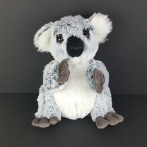 "Unipak Plush Grey White Black Koala 10"" Stuffed Animal 2016 Eyelashes A53 - $14.84"