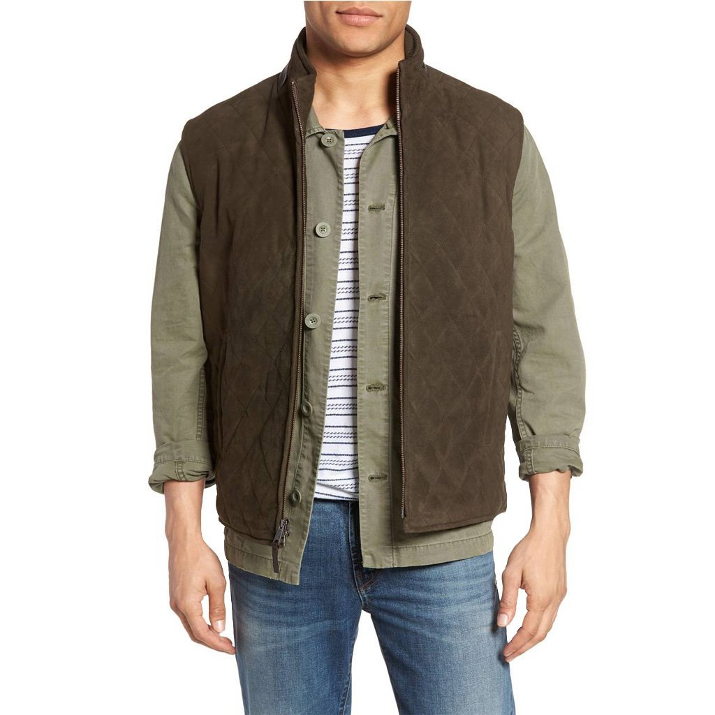 Bown Men Suede Leather Vest